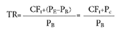 فرمول محاسبه بازده کل (TR) در مدیریت ریسک